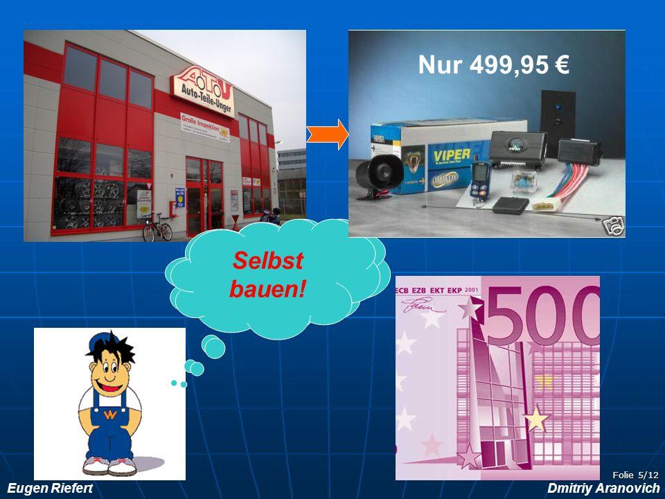 Nur 499,95 € Studien-gebühren!!! Selbst bauen!