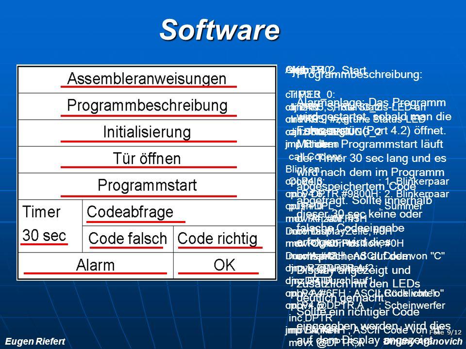 Software jnb P4.2, Start Programmbeschreibung: