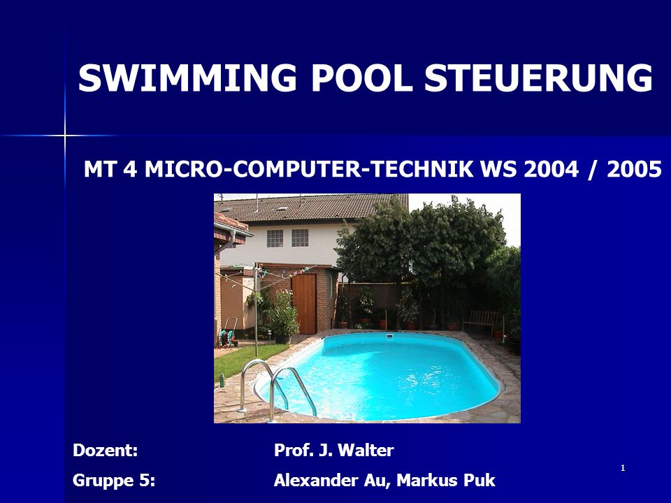 SWIMMING POOL STEUERUNG
