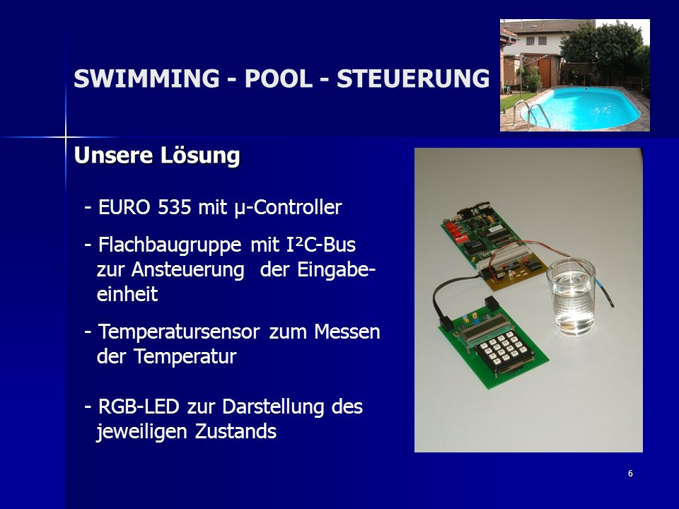 SWIMMING - POOL - STEUERUNG