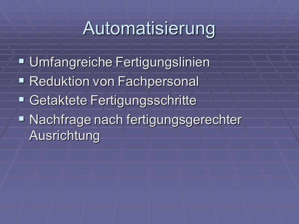 Automatisierung Umfangreiche Fertigungslinien