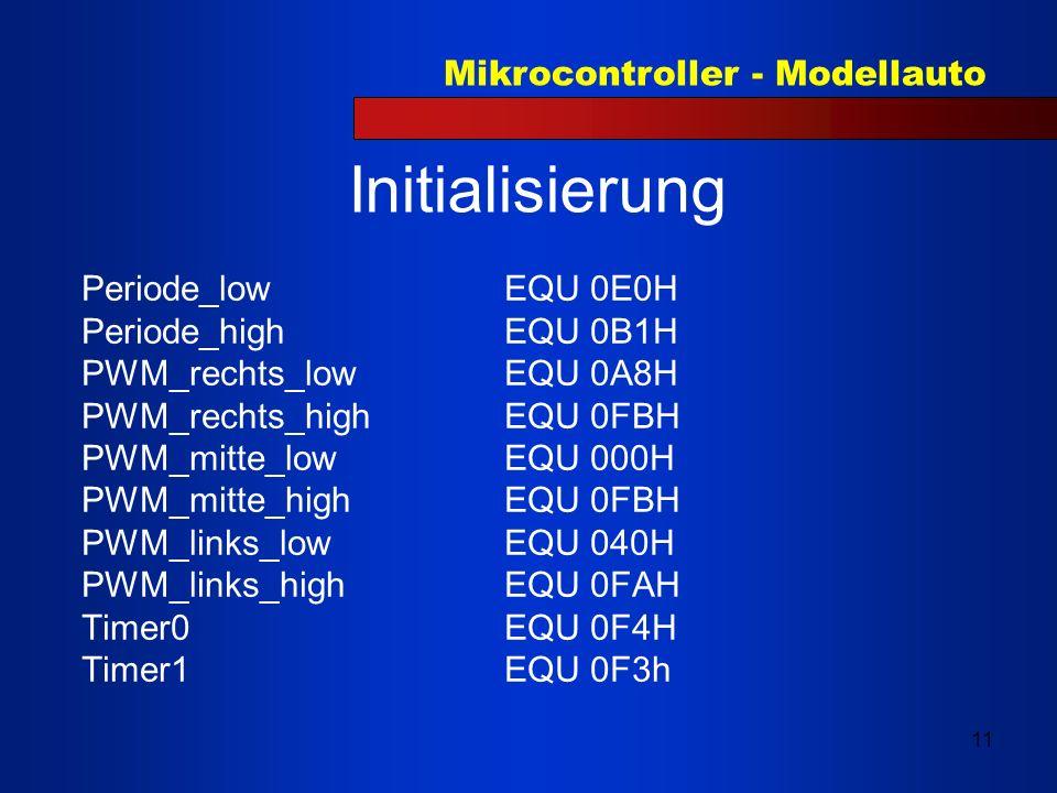 Initialisierung Periode_low EQU 0E0H Periode_high EQU 0B1H