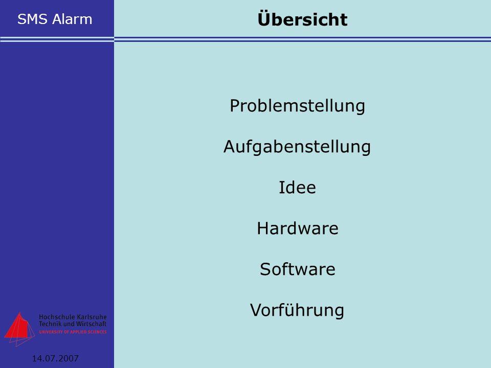 Übersicht Problemstellung Aufgabenstellung Idee Hardware Software