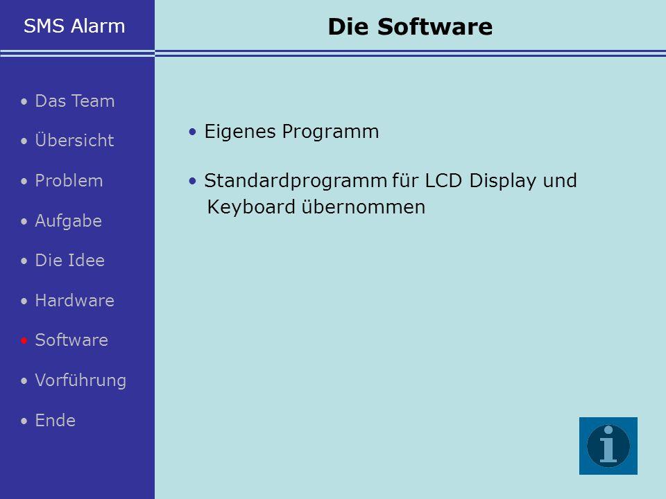 Die Software SMS Alarm • Eigenes Programm