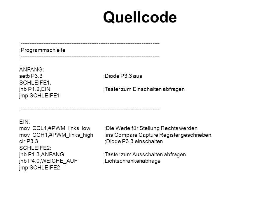Quellcode ;------------------------------------------------------------------------------ ;Programmschleife.