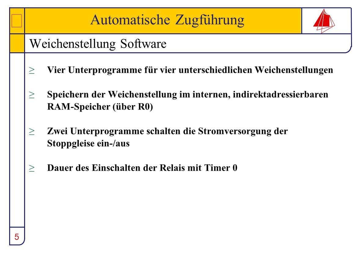 Weichenstellung Software