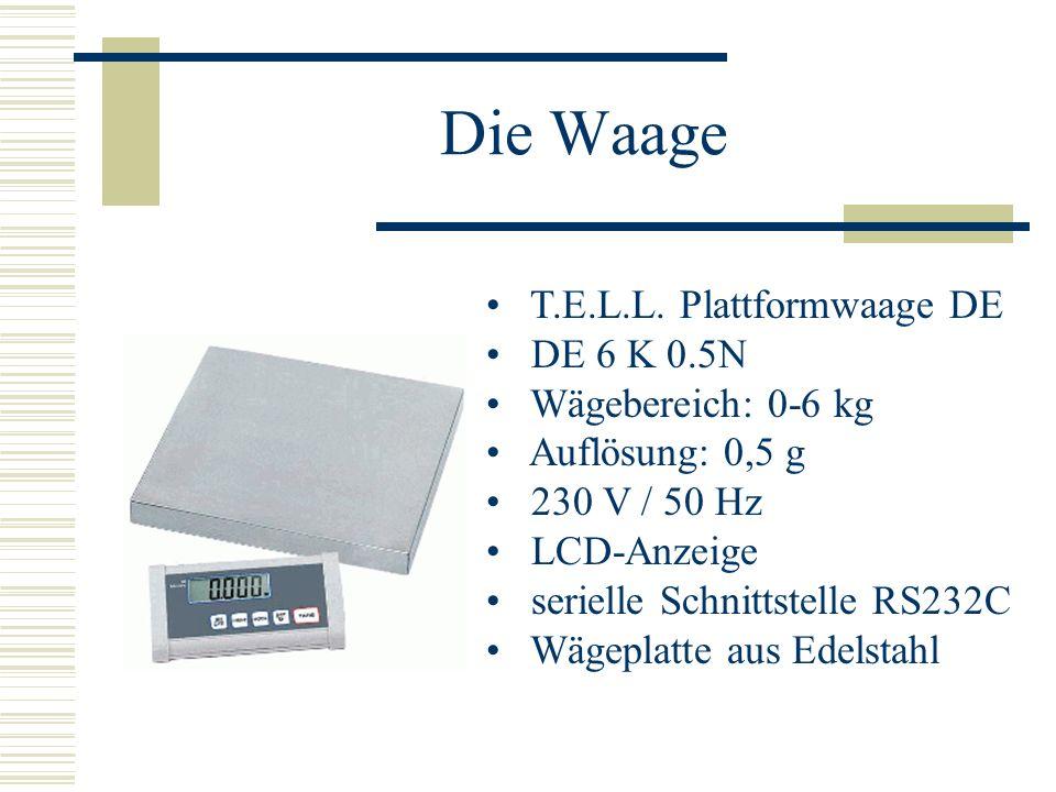 Die Waage T.E.L.L. Plattformwaage DE DE 6 K 0.5N Wägebereich: 0-6 kg