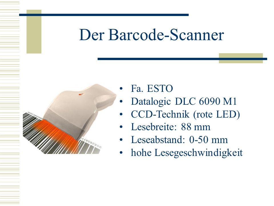Der Barcode-Scanner Fa. ESTO Datalogic DLC 6090 M1