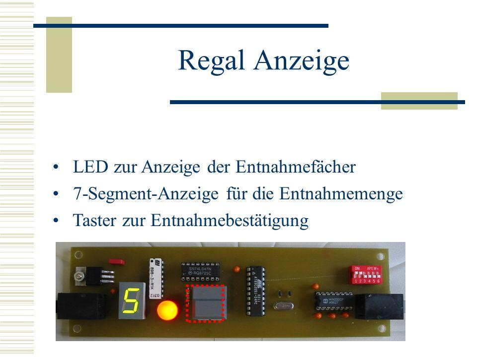 Regal Anzeige LED zur Anzeige der Entnahmefächer