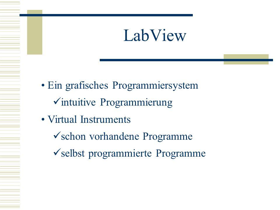 LabView Ein grafisches Programmiersystem intuitive Programmierung