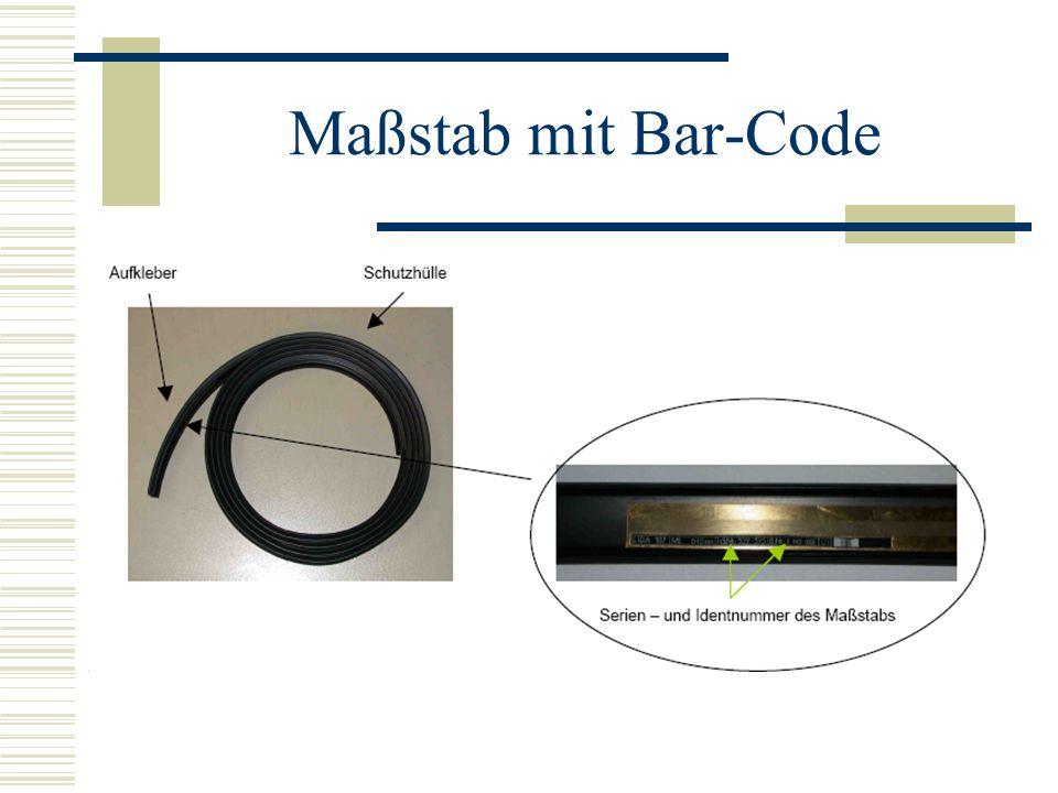 Maßstab mit Bar-Code
