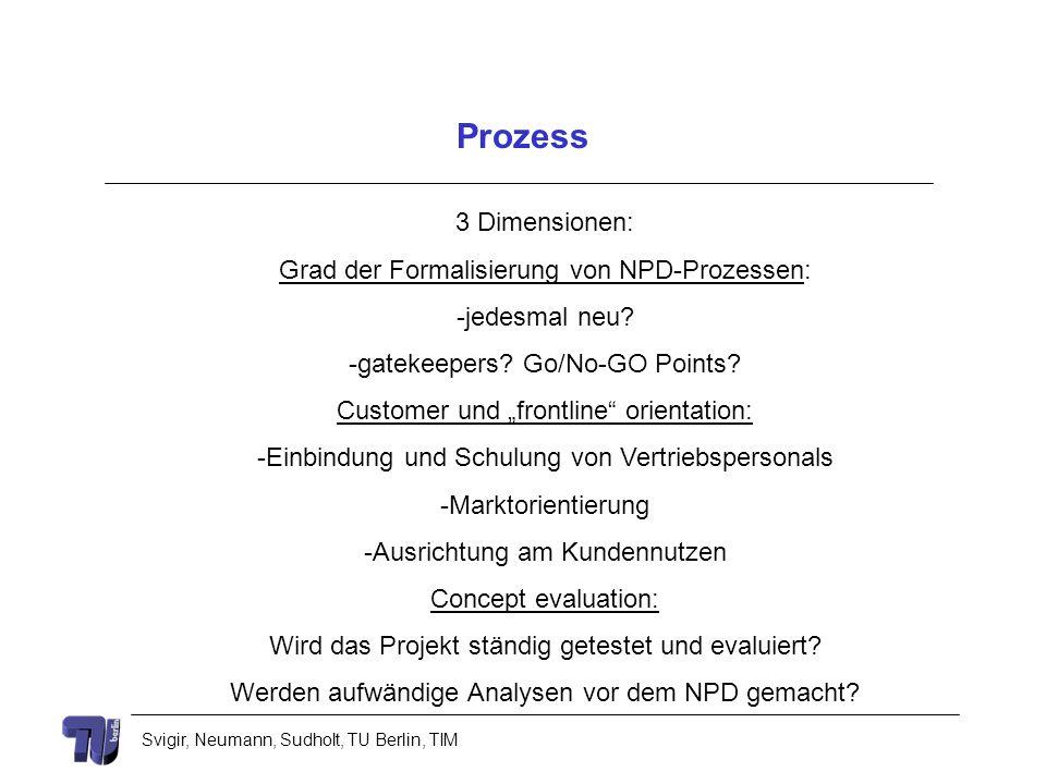 Prozess 3 Dimensionen: Grad der Formalisierung von NPD-Prozessen: