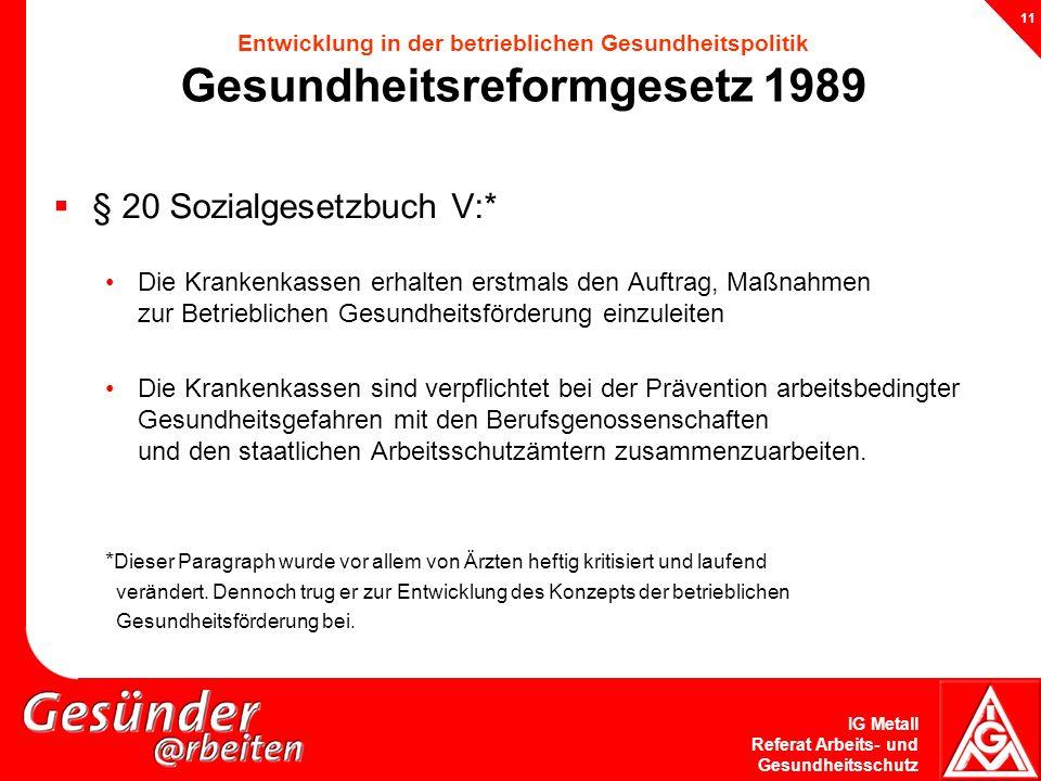 § 20 Sozialgesetzbuch V:*