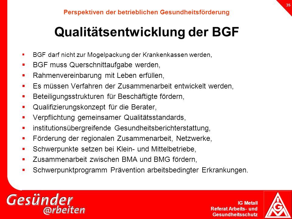 BGF muss Querschnittaufgabe werden,