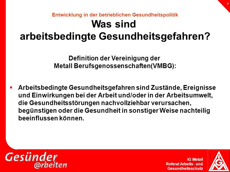 Metall Berufsgenossenschaften(VMBG):