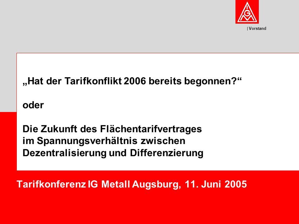 Tarifkonferenz IG Metall Augsburg, 11. Juni 2005