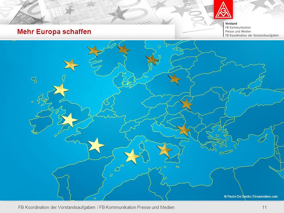 Mehr Europa schaffen © Paolo De Santis / Dreamstime.com