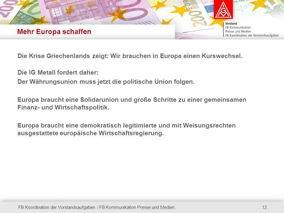 Mehr Europa schaffen