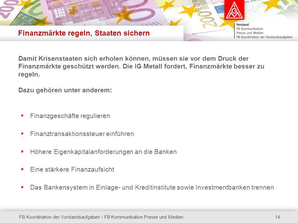 Finanzmärkte regeln, Staaten sichern
