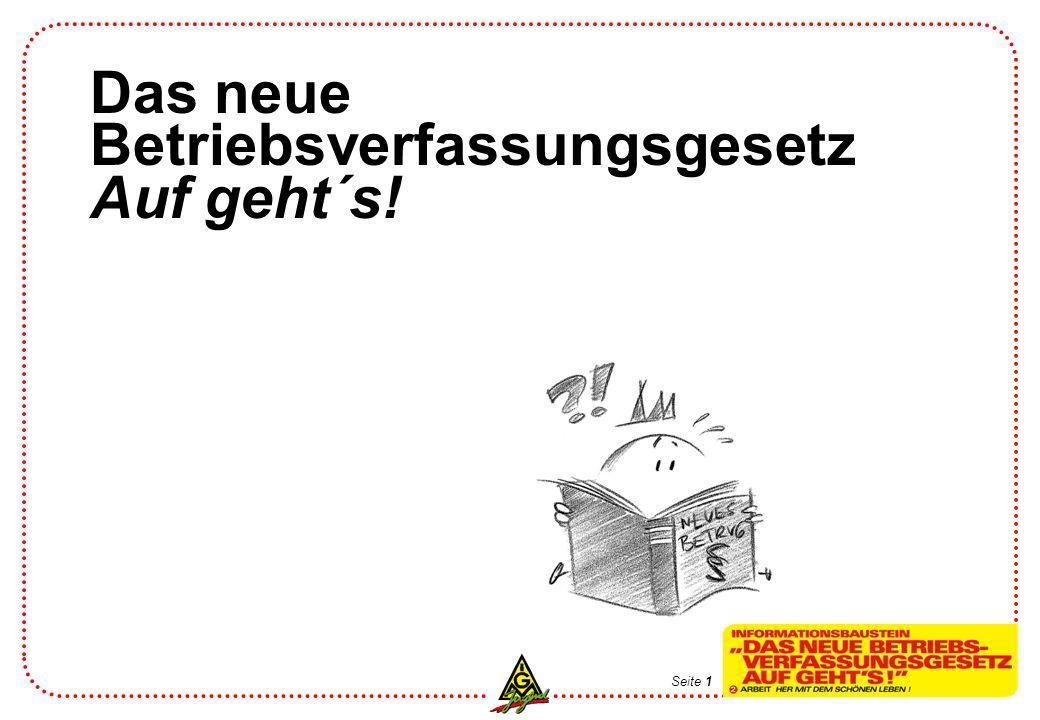 Betriebsverfassungsgesetz Auf geht´s!