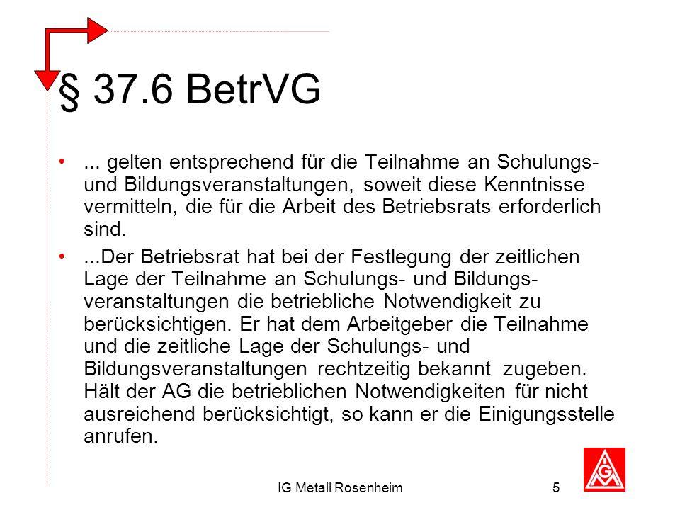 § 37.6 BetrVG