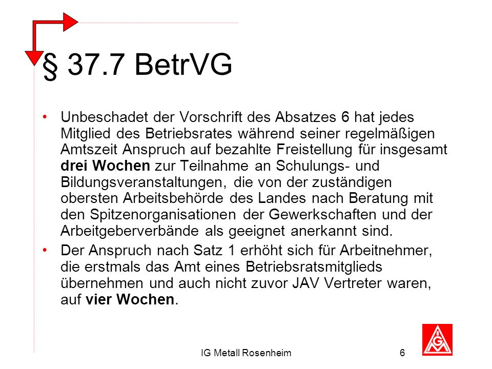 § 37.7 BetrVG