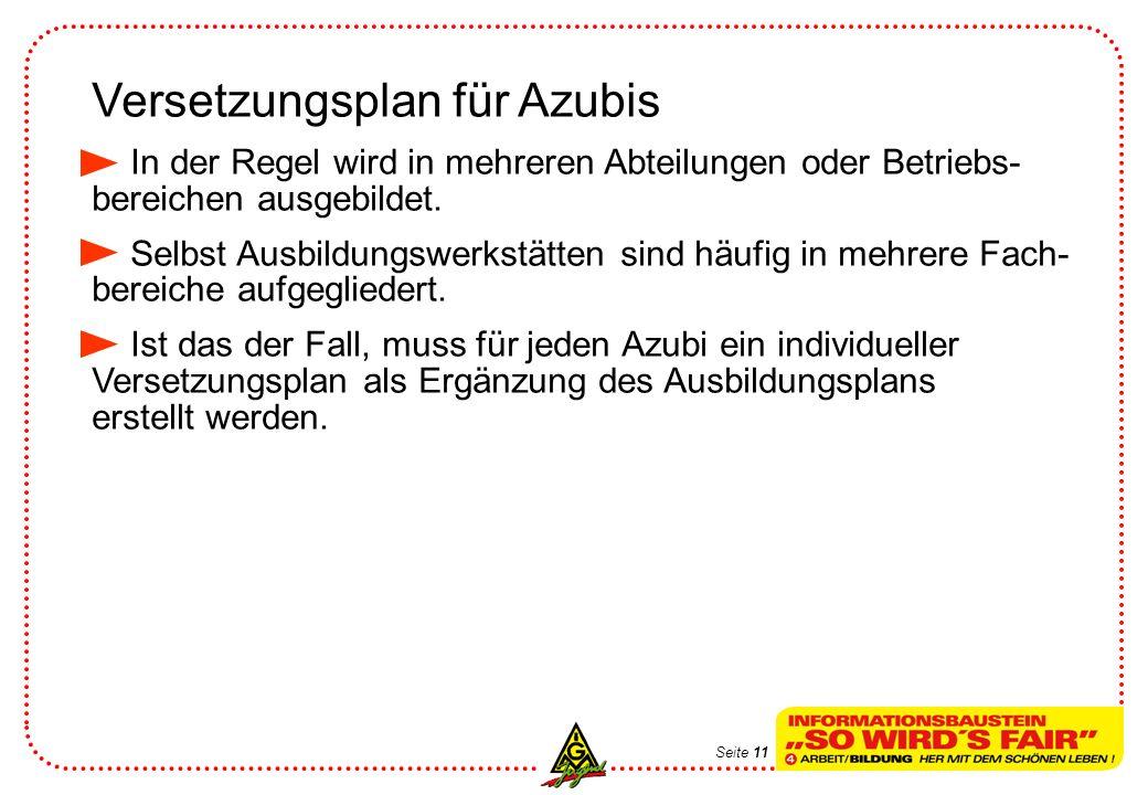 Versetzungsplan für Azubis