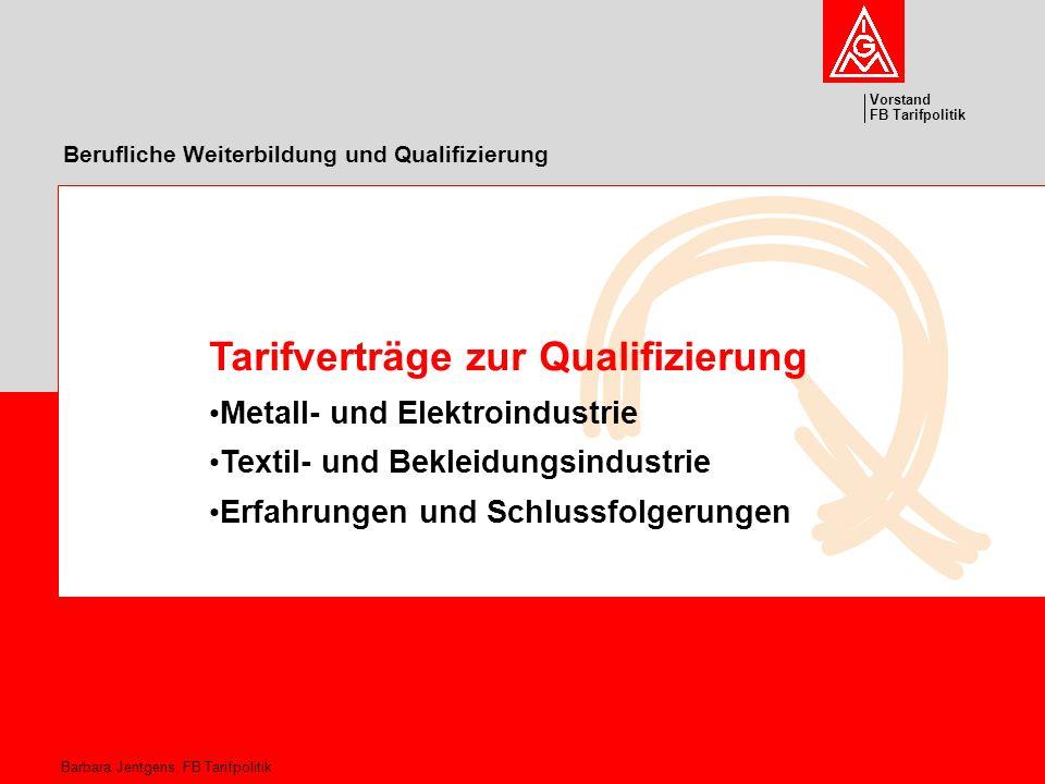 Berufliche Weiterbildung und Qualifizierung