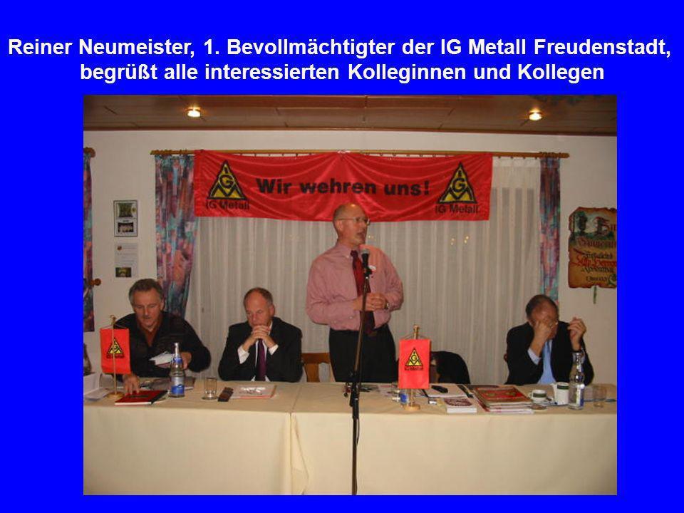 Reiner Neumeister, 1. Bevollmächtigter der IG Metall Freudenstadt,