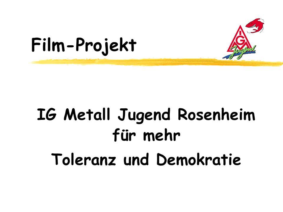 IG Metall Jugend Rosenheim für mehr Toleranz und Demokratie