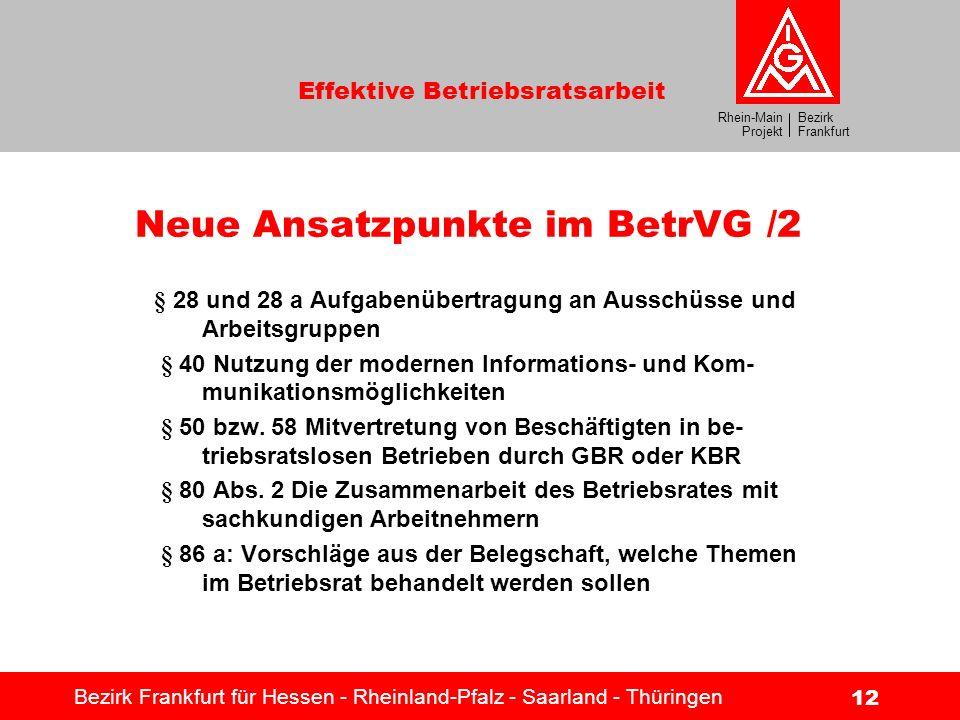 Neue Ansatzpunkte im BetrVG /2