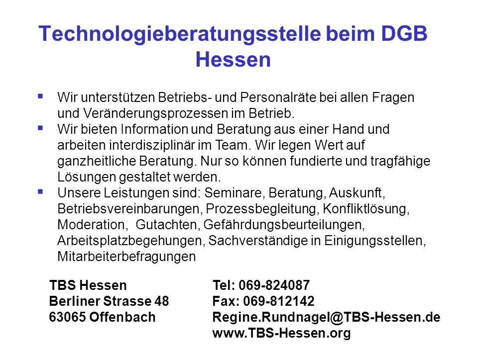 Technologieberatungsstelle beim DGB Hessen