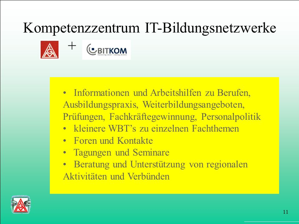 Kompetenzzentrum IT-Bildungsnetzwerke +