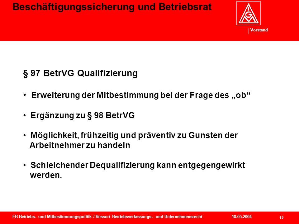 Beschäftigungssicherung und Betriebsrat