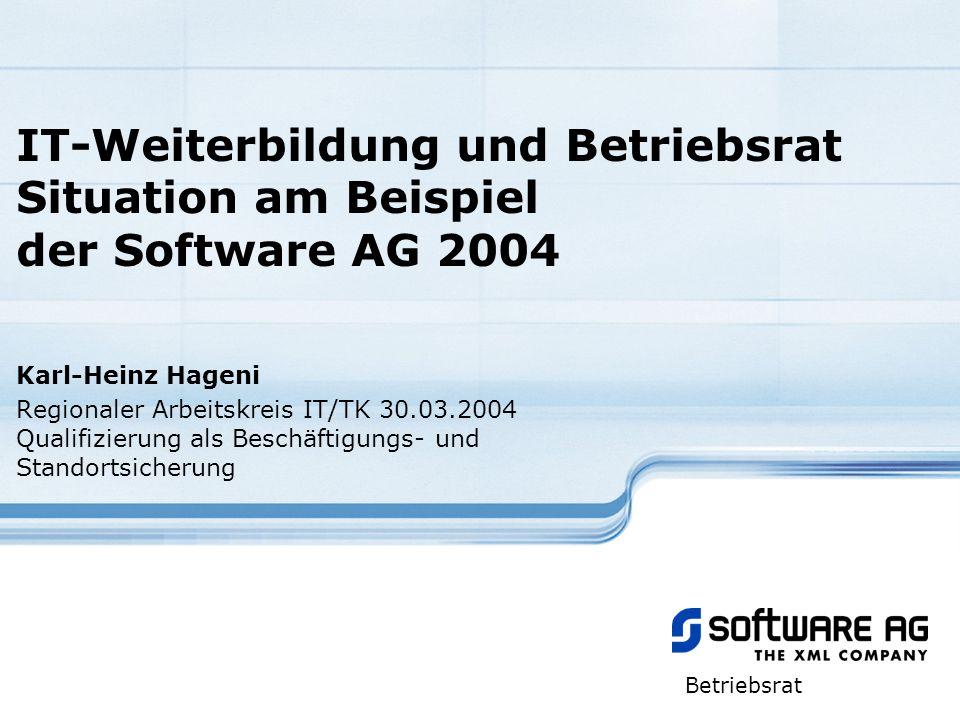 IT-Weiterbildung und Betriebsrat Situation am Beispiel der Software AG 2004