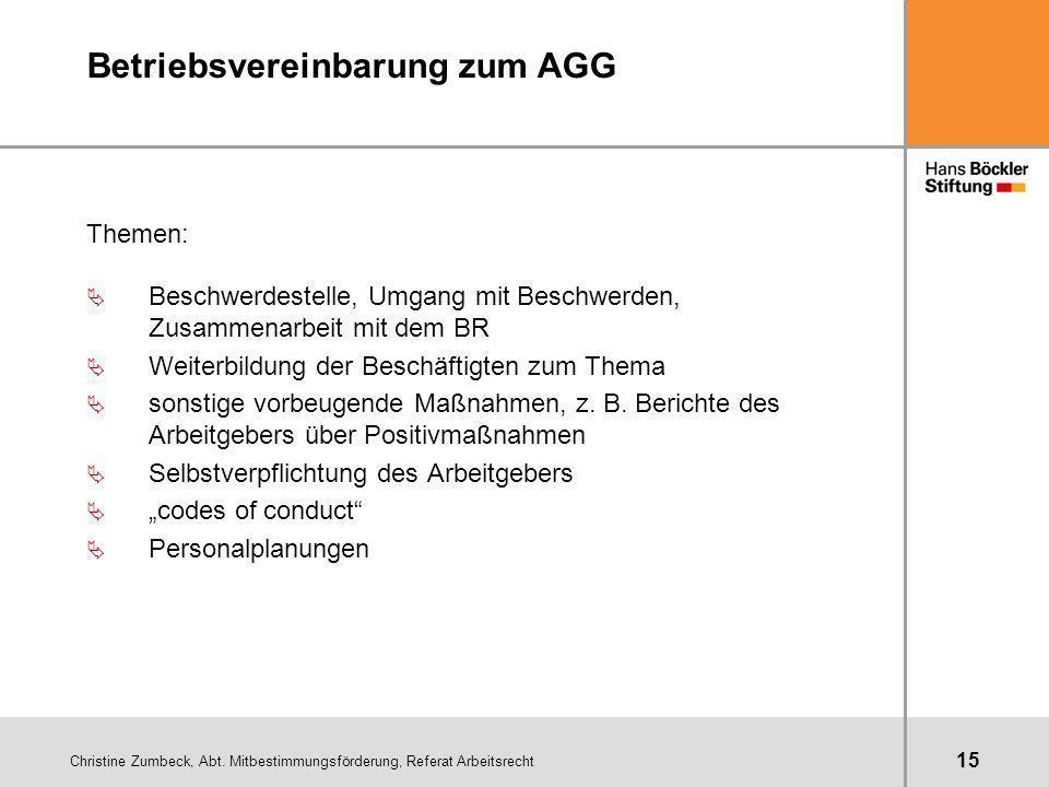 Betriebsvereinbarung zum AGG