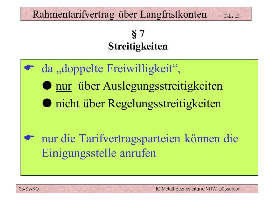 Rahmentarifvertrag über Langfristkonten Folie 15