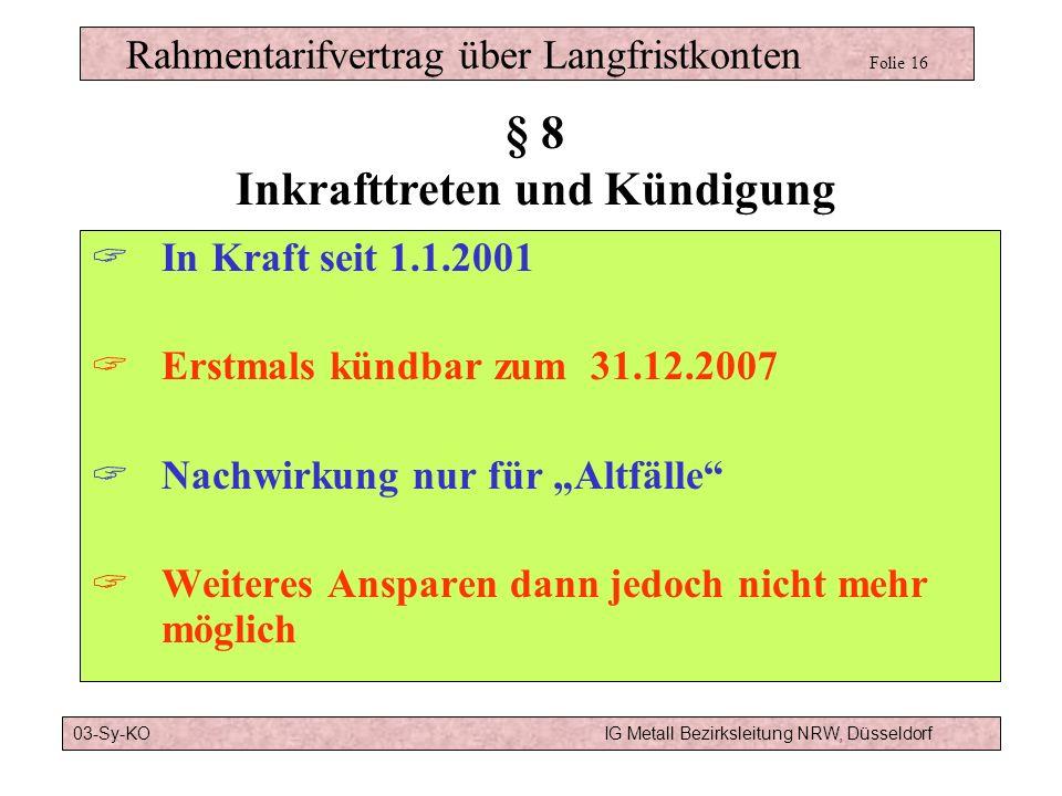 Rahmentarifvertrag über Langfristkonten Folie 16