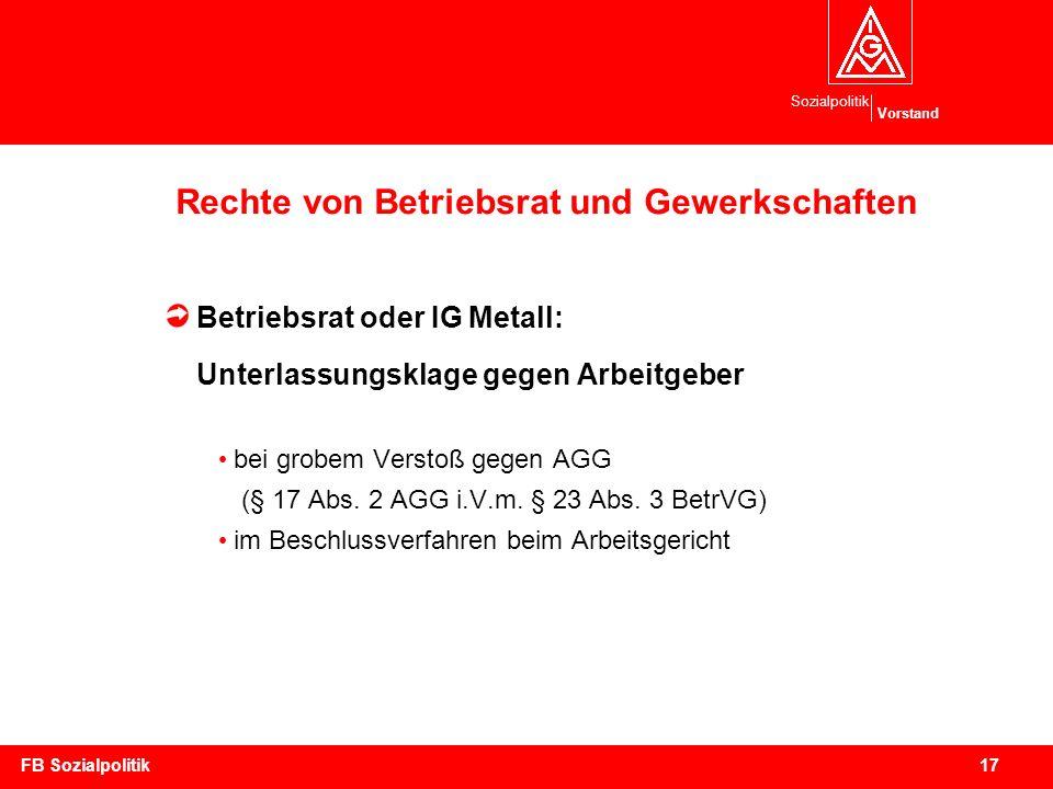Rechte von Betriebsrat und Gewerkschaften