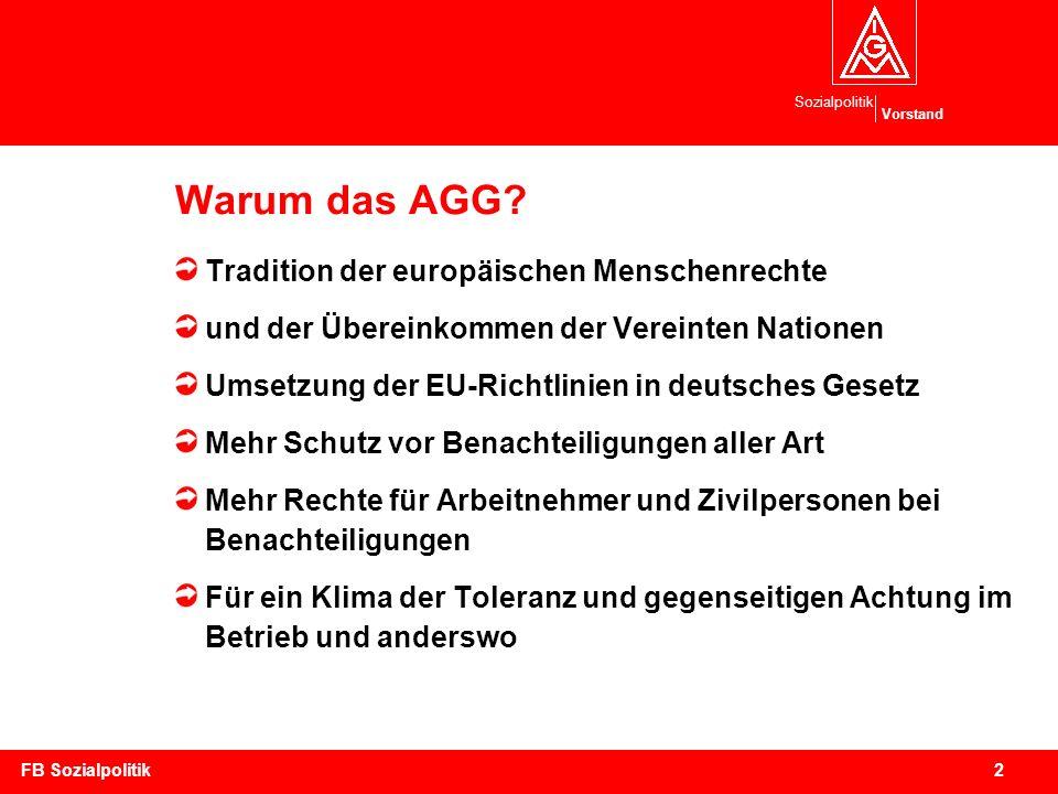 Warum das AGG Tradition der europäischen Menschenrechte