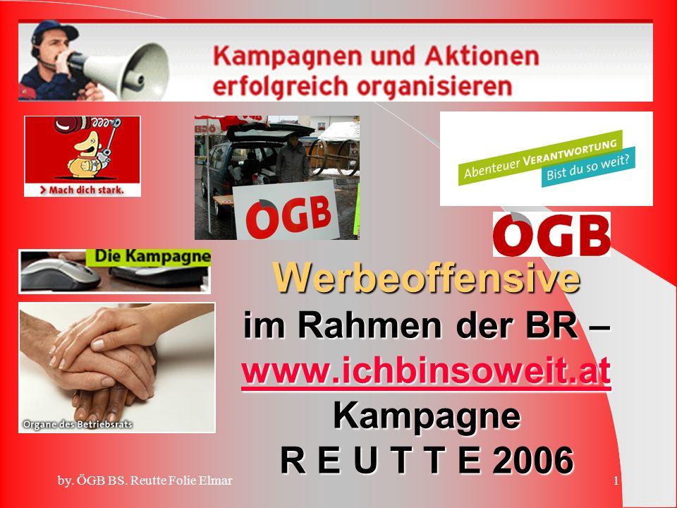 Werbeoffensive im Rahmen der BR – www. ichbinsoweit