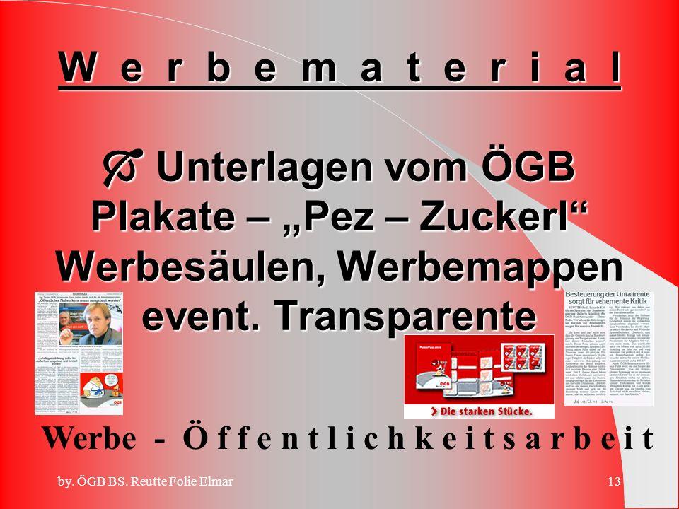"""W e r b e m a t e r i a l  Unterlagen vom ÖGB Plakate – """"Pez – Zuckerl Werbesäulen, Werbemappen event. Transparente"""