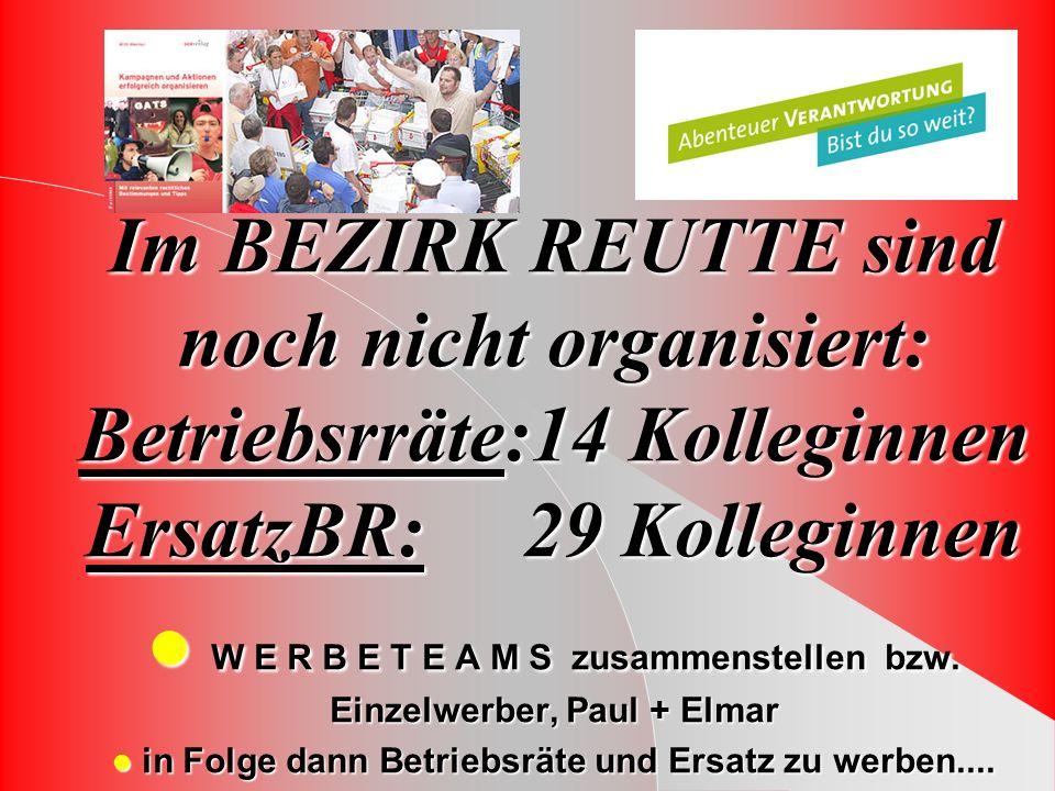 W E R B E T E A M S zusammenstellen bzw. Einzelwerber, Paul + Elmar