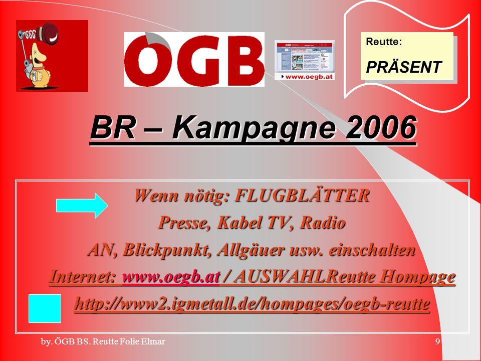 BR – Kampagne 2006 Wenn nötig: FLUGBLÄTTER Presse, Kabel TV, Radio