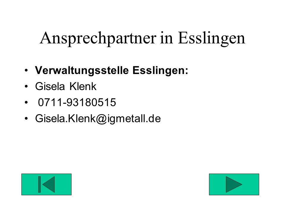 Ansprechpartner in Esslingen