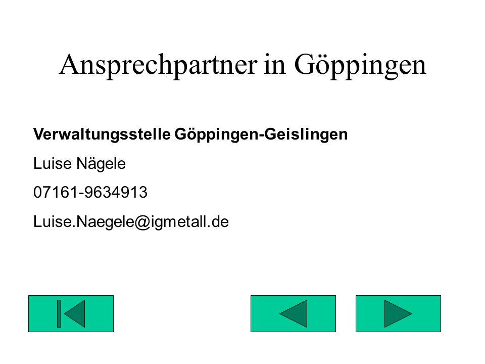 Ansprechpartner in Göppingen
