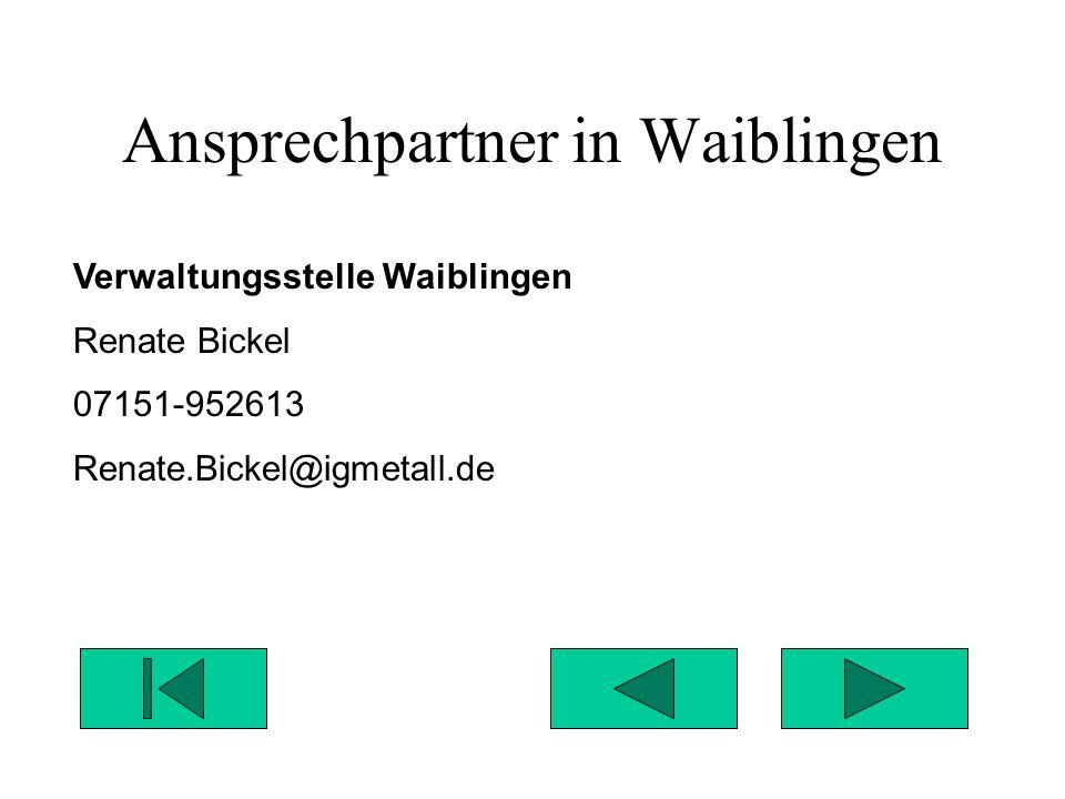 Ansprechpartner in Waiblingen
