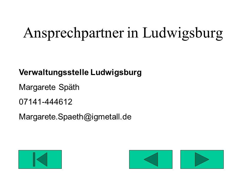Ansprechpartner in Ludwigsburg