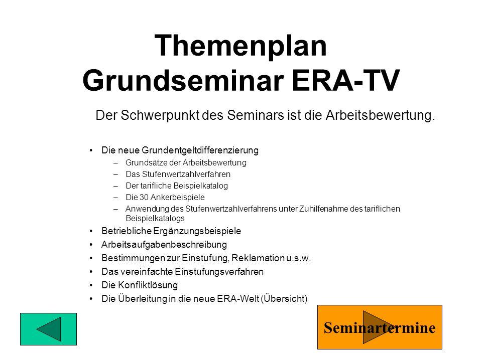 Themenplan Grundseminar ERA-TV