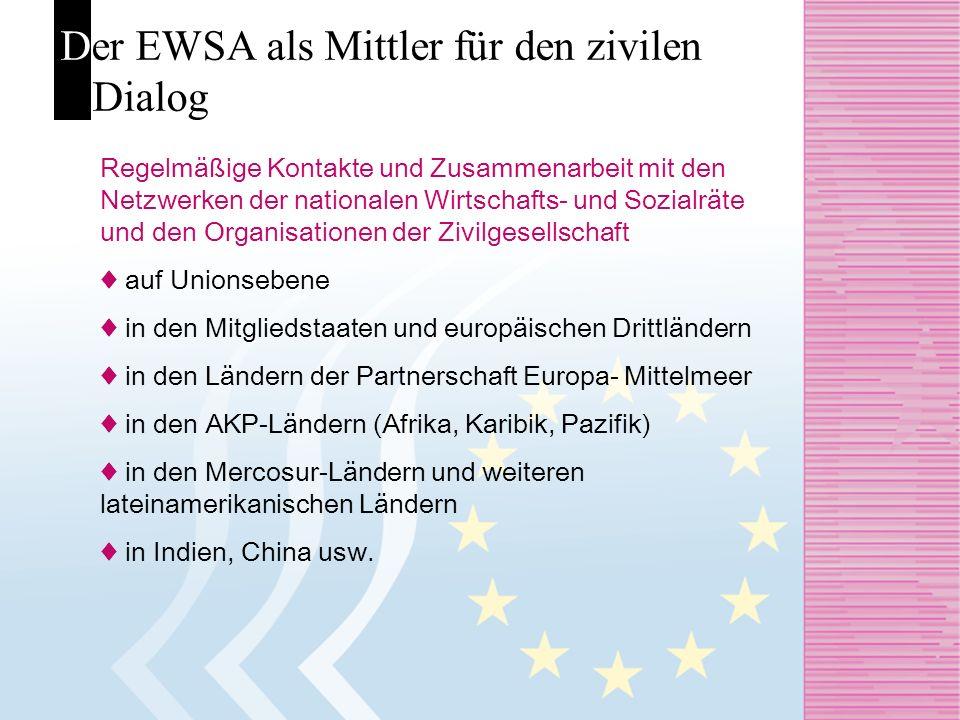 Der EWSA als Mittler für den zivilen Dialog